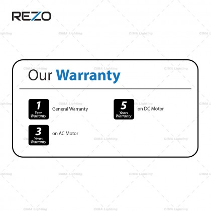 """REZO AX42 42"""" 5 SPEED 5 ABS BLADE REMOTE CONTROL BABY FAN"""