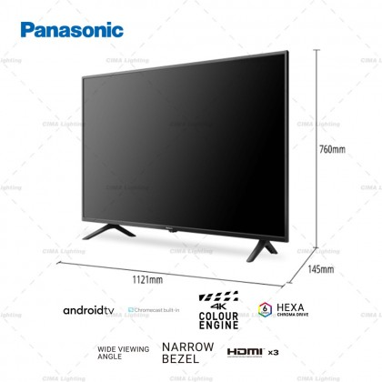 """PANASONIC TH-50HX655K 50"""" 4K HDR ANDROID TV WITH GOOGLE ASSISTANT & CHROMECAST"""