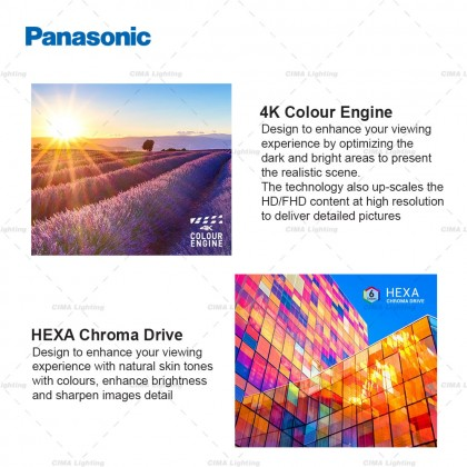 """PANASONIC TH-43HX655K 43"""" 4K HDR ANDROID TV WITH GOOGLE ASSISTANT & CHROMECAST"""