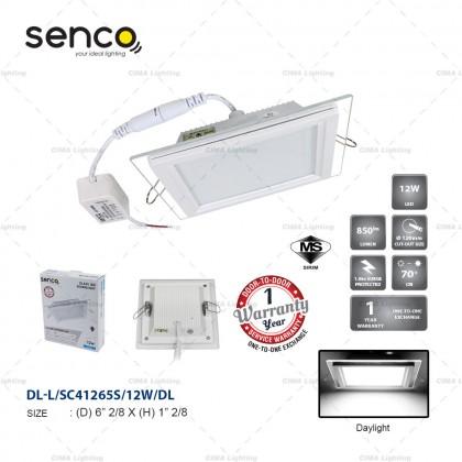 "SENCO GLASS LED DOWNLIGHT ROUND/SQUARE 4""/6"" 12W/18W"