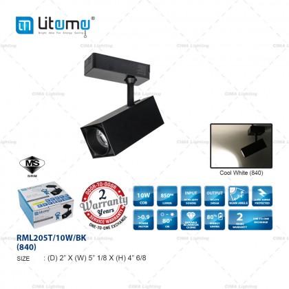 LITEME RML205T/RML206T 10W/20W/30W BLACK/WHITE ROUND/SQUARE LED TRACK LIGHT