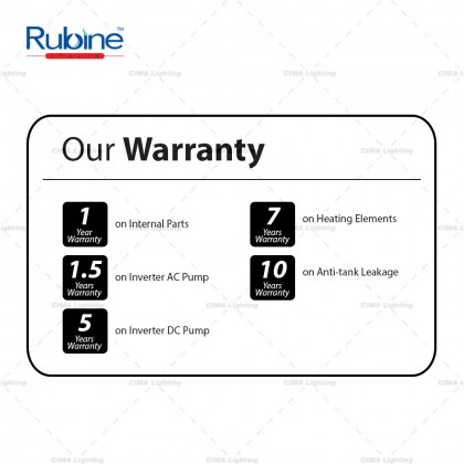 RUBINE RWH-IA951D-CCB/RWH-IA951D-CMG INVERTER DC SILENT PUMP INSTANT WATER HEATER